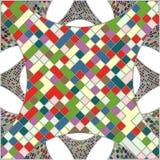 Mosaik-bunter städtischer geometrische Struktur-Vektor Lizenzfreie Stockfotografie