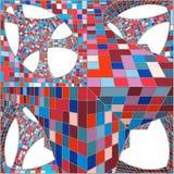 Mosaik-bunter städtischer geometrische Struktur-Vektor Stockfotografie