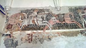 Mosaik in Darjiu-Wehrkirche Stockfotos
