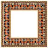Mosaik deckte Kostgänger mit Ziegeln Stockbild
