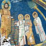 Mosaik in der Basilika von Santa Prassede, Rom lizenzfreies stockfoto