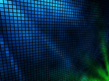 Mosaik der blauen und grünen Leuchten Stockfotos