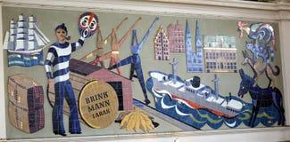 Mosaik in der Bremen-Zentralstation stockfotografie