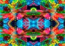 Mosaik der bunten Steine Geometrische bunte Linien und Muster Abstraktion von Farben Stockbild