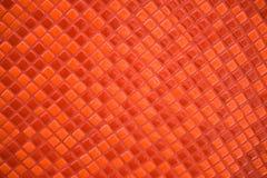 Mosaik der kleinen roten Ziegelsteine. Lizenzfreie Stockbilder