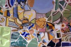 Mosaik der unterbrochenen Fliesen Lizenzfreie Stockfotos