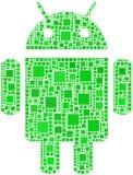 Mosaik des androiden Zeichens Lizenzfreie Stockfotos