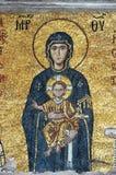 Mosaik des Jesus Christus und Jungfrau Maria lizenzfreie stockbilder