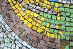 Mosaik des kleinen Steinhintergrundes Stockfotos