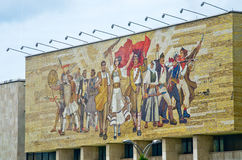 Mosaik des Nationalmuseums in Tirana, Albanien lizenzfreie stockbilder
