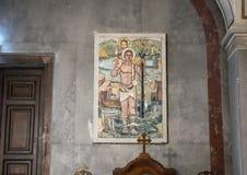 Mosaik durch Mattioni innerhalb der Esztergom-Basilika, Ungarn lizenzfreie stockbilder