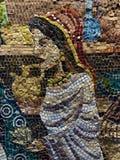 Mosaik entsteint Kunst - jüdisches Viertel-Jerusalem lizenzfreie stockbilder