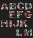 mosaik för alfabetknappfärg vektor illustrationer