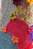 Mosaik för rät maskablommamodell Arkivbild