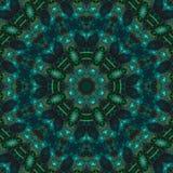 Mosaik för spegel för mall för abstrakt för kalejdoskopmodellprydnad för symmetri för prydnad konsert för form komplex royaltyfri illustrationer