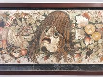 Mosaik från Pompeii, MANN museum, Naples royaltyfri bild