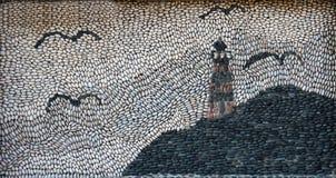 Mosaik gemacht von den Kieseln Lizenzfreies Stockbild