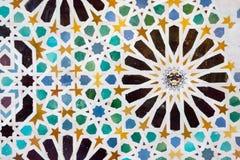 Mosaik i Alhambraen, Granada Arkivbilder