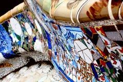 Mosaik i Barcelona Arkivfoton
