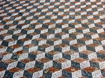 Mosaik i Delos, Grekland Royaltyfria Bilder
