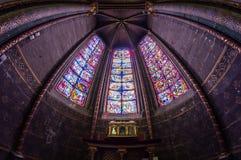 Mosaik i den Bourges domkyrkan Arkivfoto