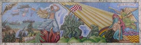Mosaik i Fort Lauderdale i polisminnesmärke Royaltyfri Bild