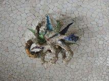 Mosaik i korridoren av 100 kolonner Arkivfoton