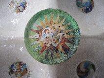 Mosaik i korridoren av 100 kolonner Royaltyfri Bild