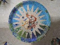 Mosaik i korridoren av 100 kolonner Arkivfoto