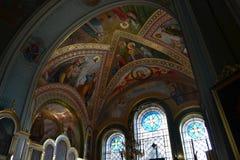 Mosaik i kristen kyrka fotografering för bildbyråer
