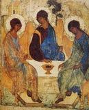 Mosaik i kyrka av frälsaren av Neredica, Novgorod, Ryssland Arkivbilder