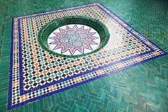 Mosaik i museet av Marrakesh Royaltyfria Foton