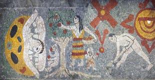 Mosaik inom Museo Anahuacalli arkivbild