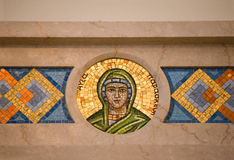 Mosaik-Kreisgrün und Gold lizenzfreie stockbilder