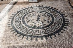 Mosaik Lindos Rhodes Greece Stockbilder