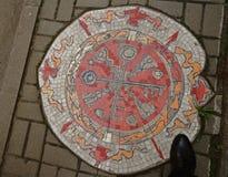 Mosaik-mönstrad trottoar Arkivbilder