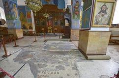 Mosaik Madaba, Jordanien Arkivfoto