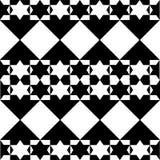 Mosaik mit Sternen in Schwarzweiss Stockfotografie