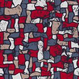 Mosaik, nahtlose Vektorillustration der Zusammenfassung grunge Lizenzfreies Stockbild