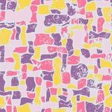 Mosaik, nahtlose Vektorillustration der Zusammenfassung grunge Lizenzfreie Stockfotografie