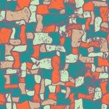 Mosaik, nahtlose Vektorillustration der Zusammenfassung grunge Lizenzfreies Stockfoto