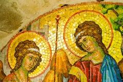 Mosaik på den Rezevici kloster, Montenegro Arkivbild