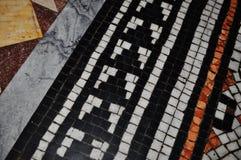 Mosaik på det golvmanchester stadshuset Royaltyfria Foton