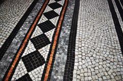 Mosaik på det golvmanchester stadshuset Royaltyfri Foto
