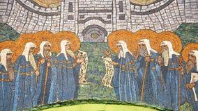 Mosaik på ett religiöst tema royaltyfri foto