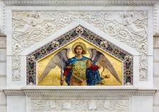 Mosaik på San Spiridione den ortodoxa kyrkan i Trieste Arkivfoto