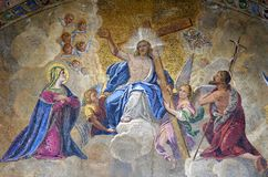 Mosaik på Stets Mark basilika i Venedig Royaltyfri Fotografi
