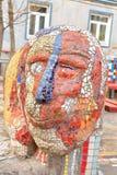 Mosaik på väggen Royaltyfri Fotografi