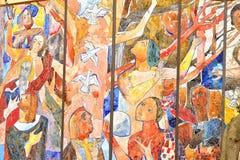 Mosaik på väggen Royaltyfria Bilder