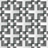 Mosaik p för grå färger för modell för sömlös lättnadsskulpturgarnering retro stock illustrationer